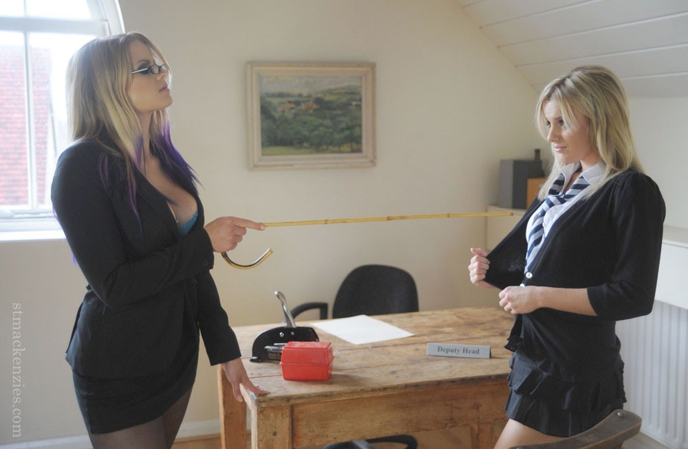 Hot schoolgirl with slender legs Amy Green gets punished by her teacher