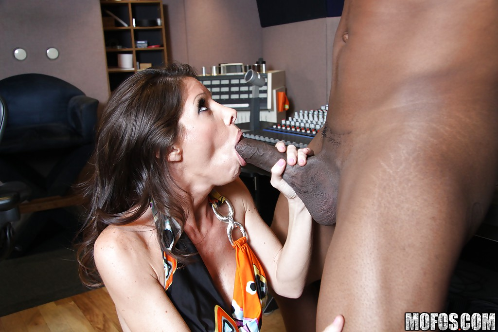 Horny milf take big black cock