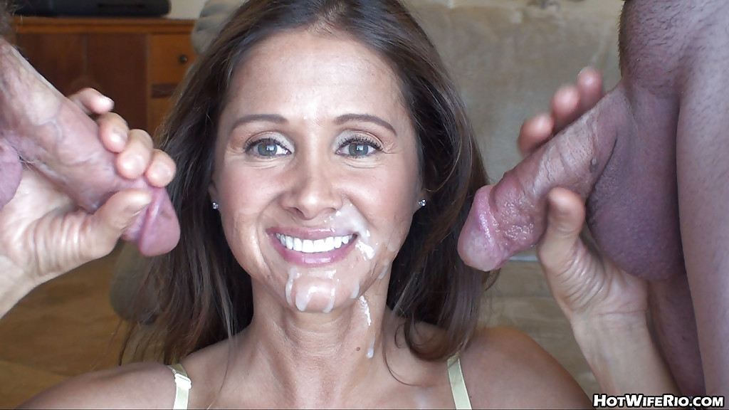 Latina hot wife facial