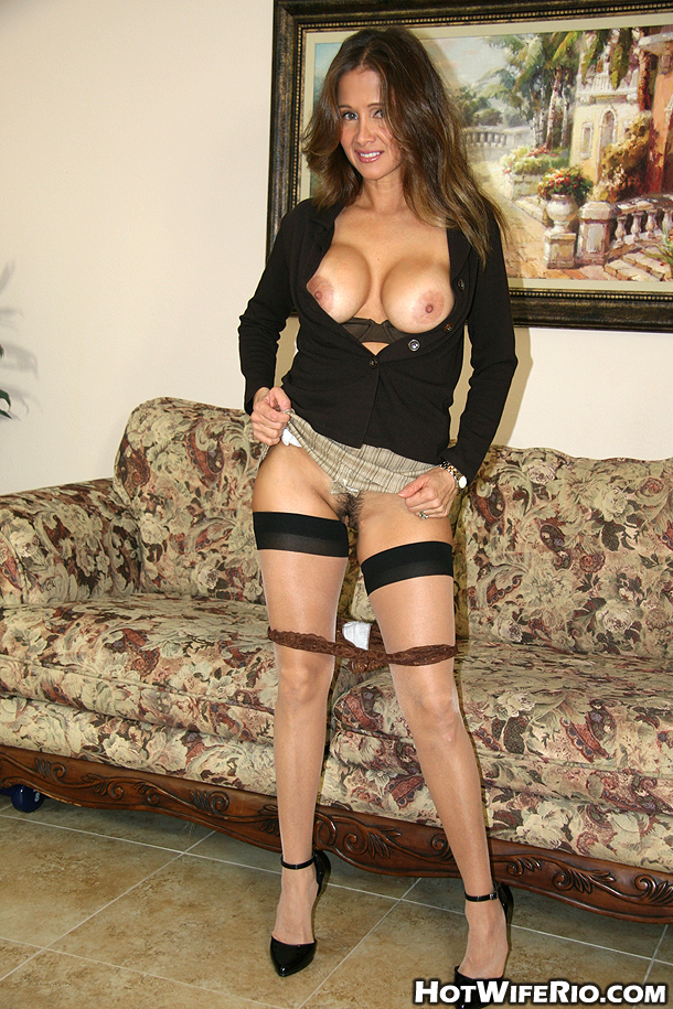 Latina Milf Amateur Solo - ... Stunning busty latina MILF in stockings Wife Rio gives a blowjob ...