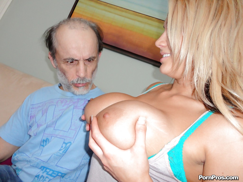 Old man fuck big tits