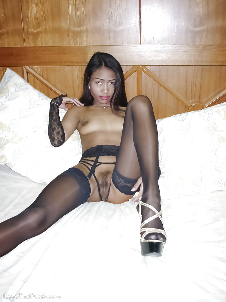 stockings Asian black