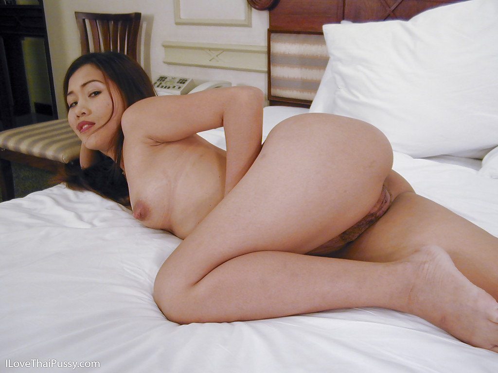 Tiny shaved Cambodian pussy ... Cute asian babe with tiny tits spreading her legs and teasing her muff  ...