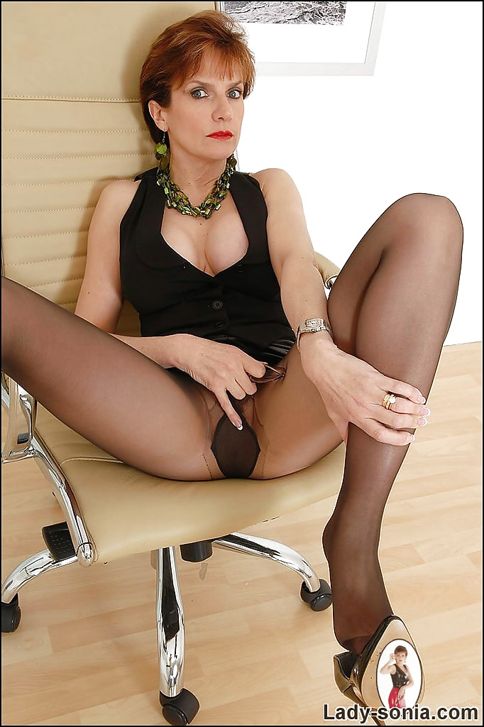 In Pantyhose Spreading Her 36
