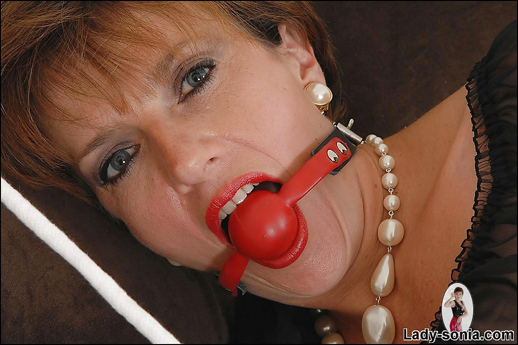 Ball gagged mature