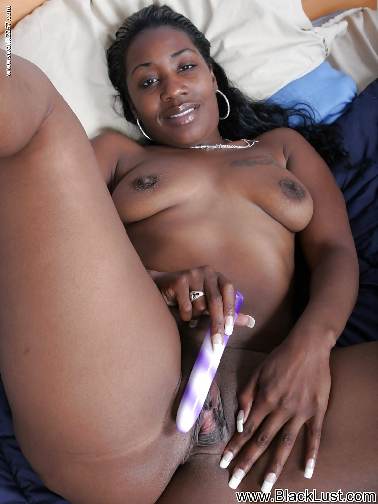 Ebony black masturbation