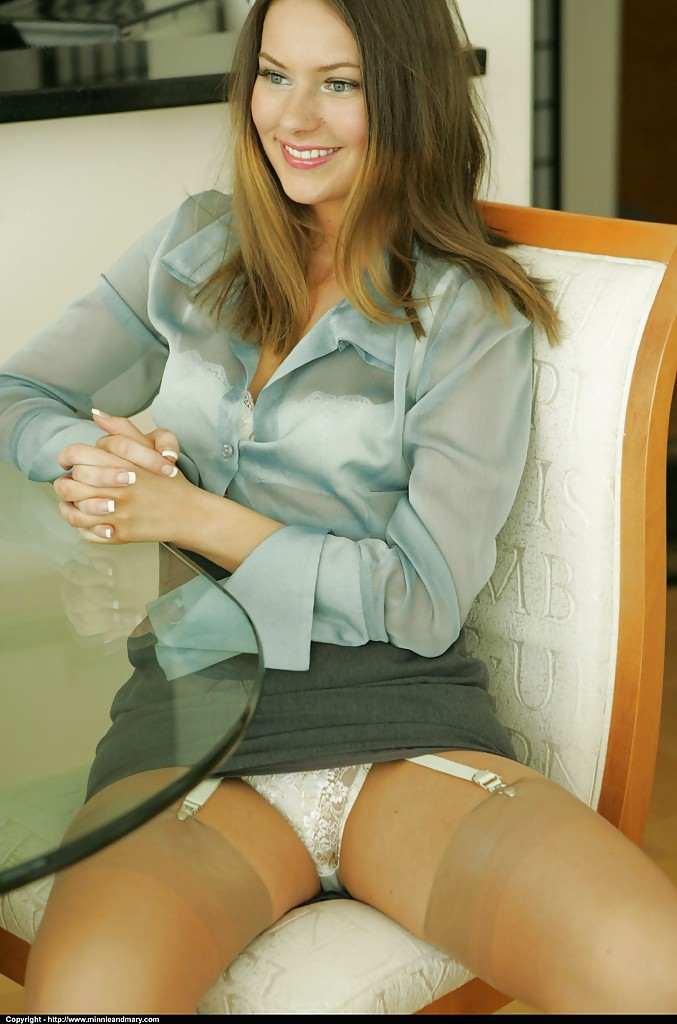 Upskirts stockings