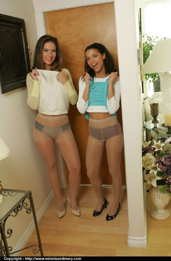 Girls in pretty panties and pantyhose