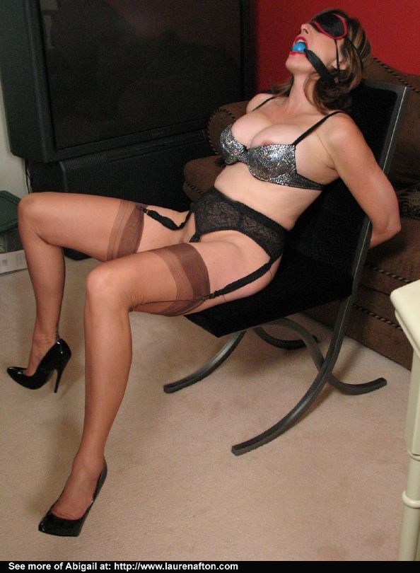 Pantyhose tied up mature