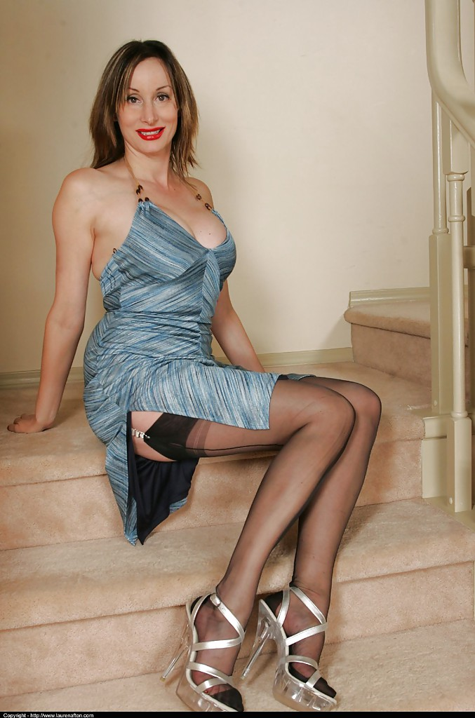Busty mature in high heels remarkable, this