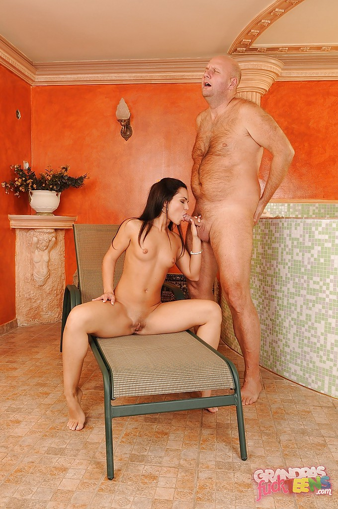 Latina girl fucked by older man