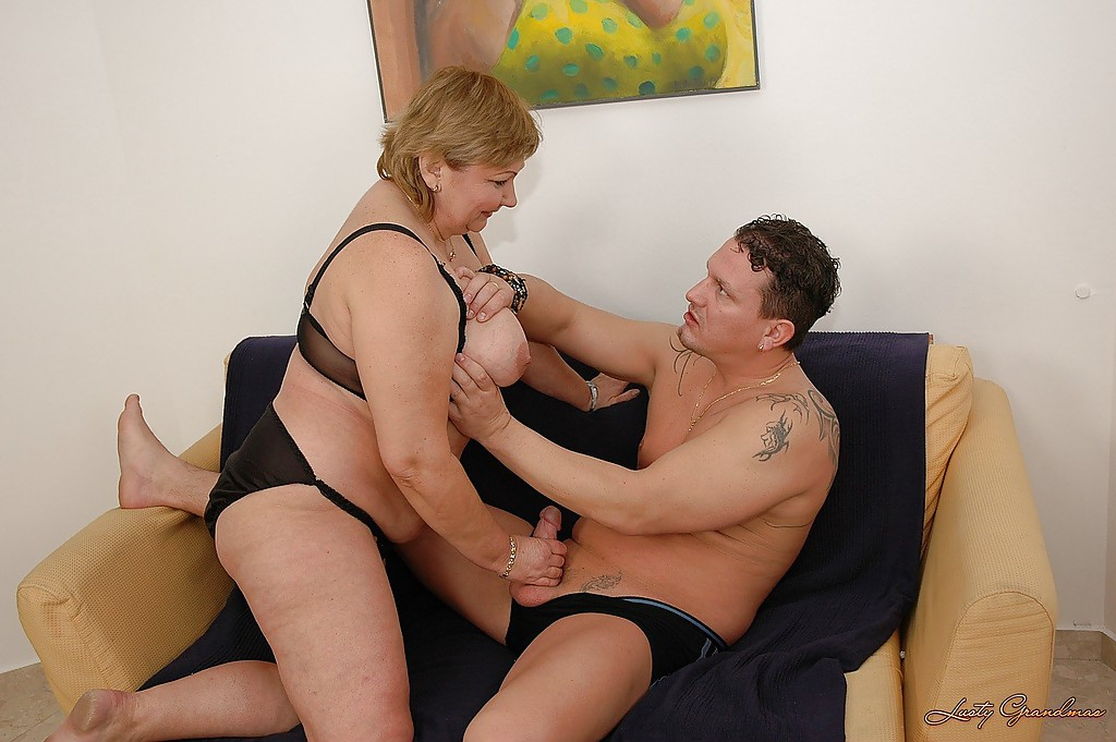 image Fat old grandma gets her ass fucked