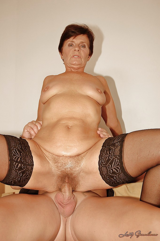 Granny fucks in stockings