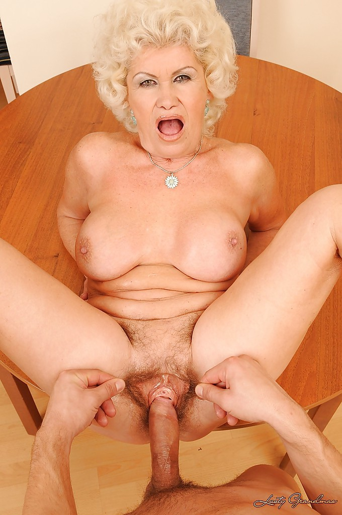 Hairy blonde mature lady
