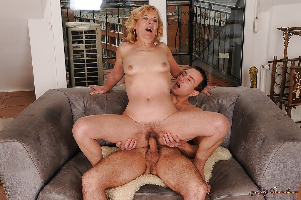 Lusty granny licks a young guys asshole and gets banged hardcore