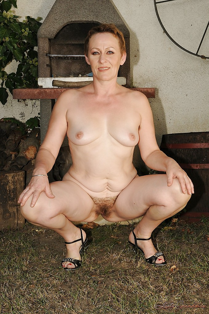 Share your Naked granny outside pics