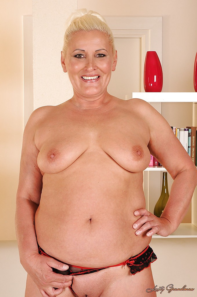 Granny and her shaved pussy