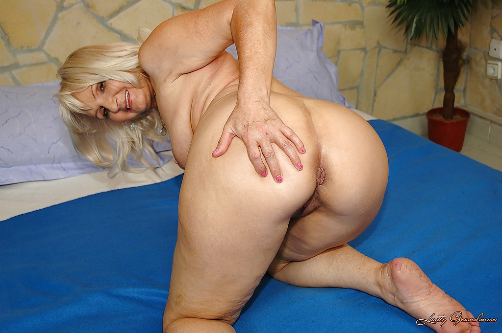 Granny shows her ass