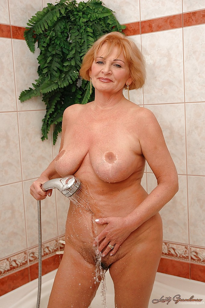 Naked grandma with big boobs right! good