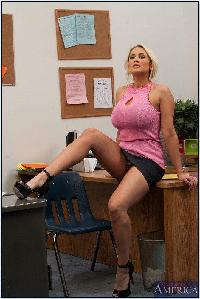 Horny office milf tits
