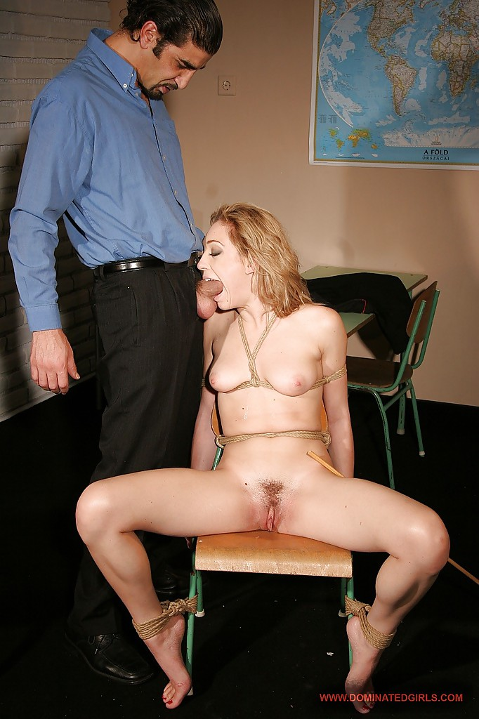 College white girl gags on black dick
