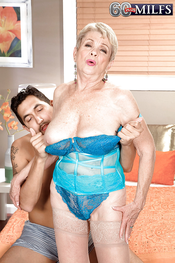 Granny with huge tits gets fucked