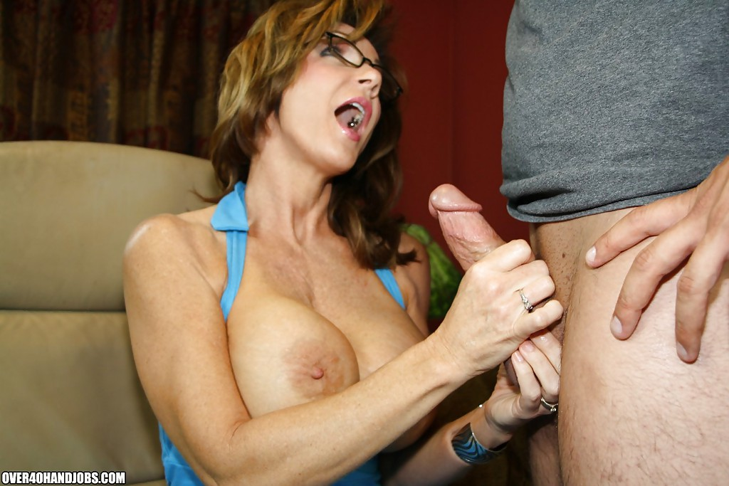 Big tits granny handjob are not