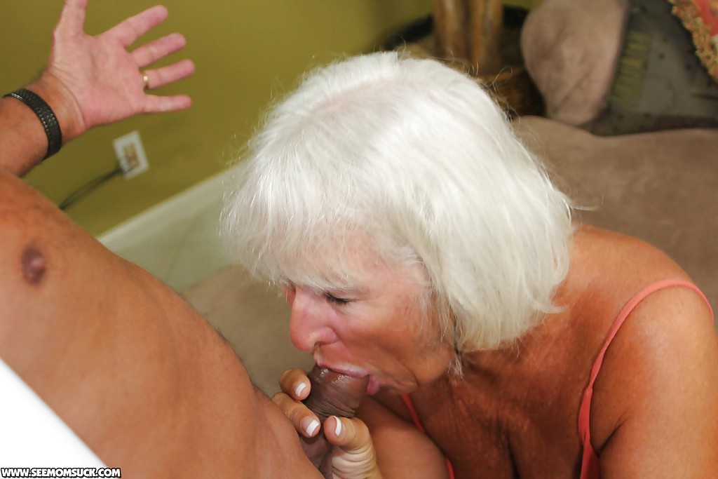 For the Granny gives blowjob