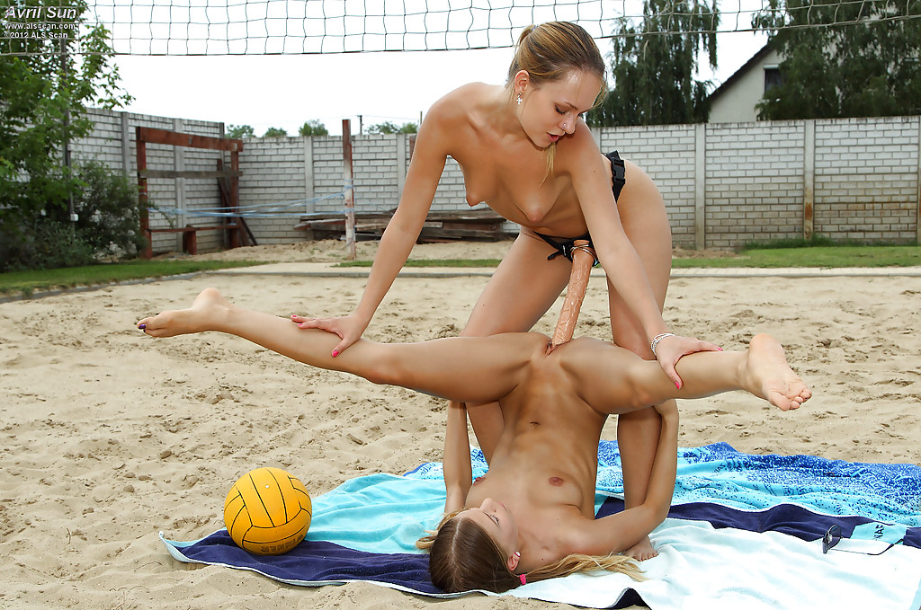 Were visited sexy nude girls playing beach volleyball