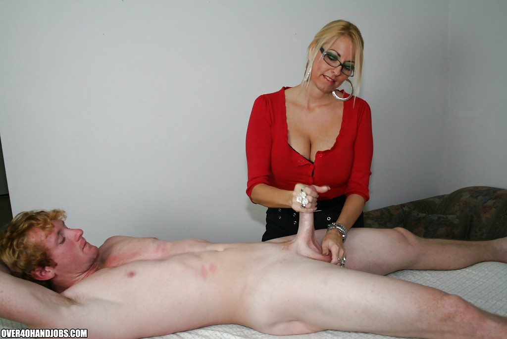 Dominant milf dallas gives femdom handjob to bound cock 7