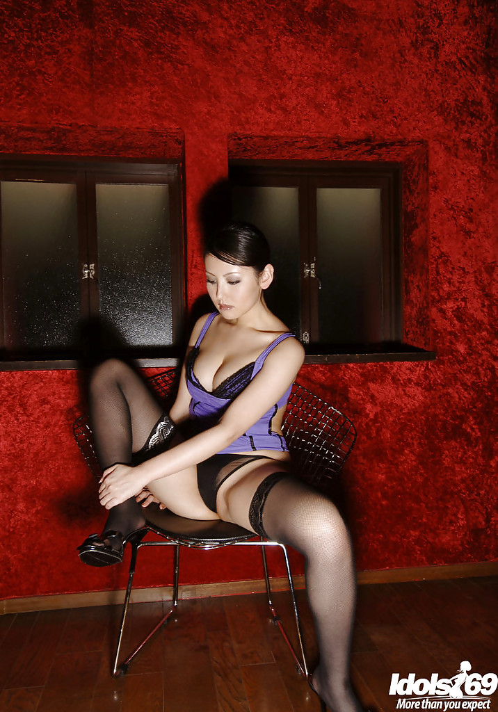 Right! Busty japanese in stockings