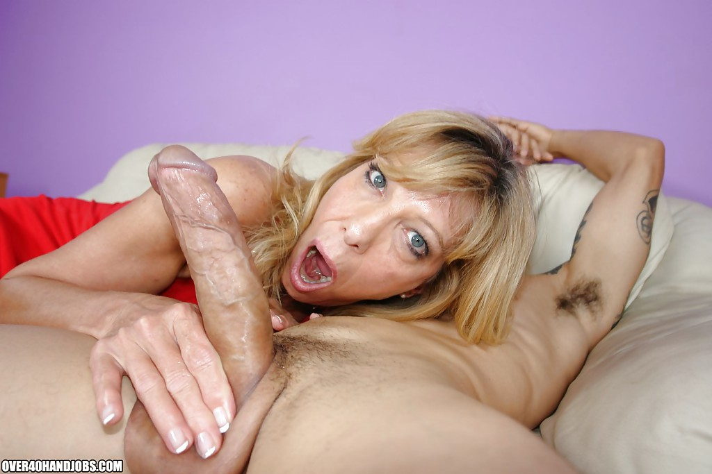 She just Cougar giving slow hand job right! and Mischa