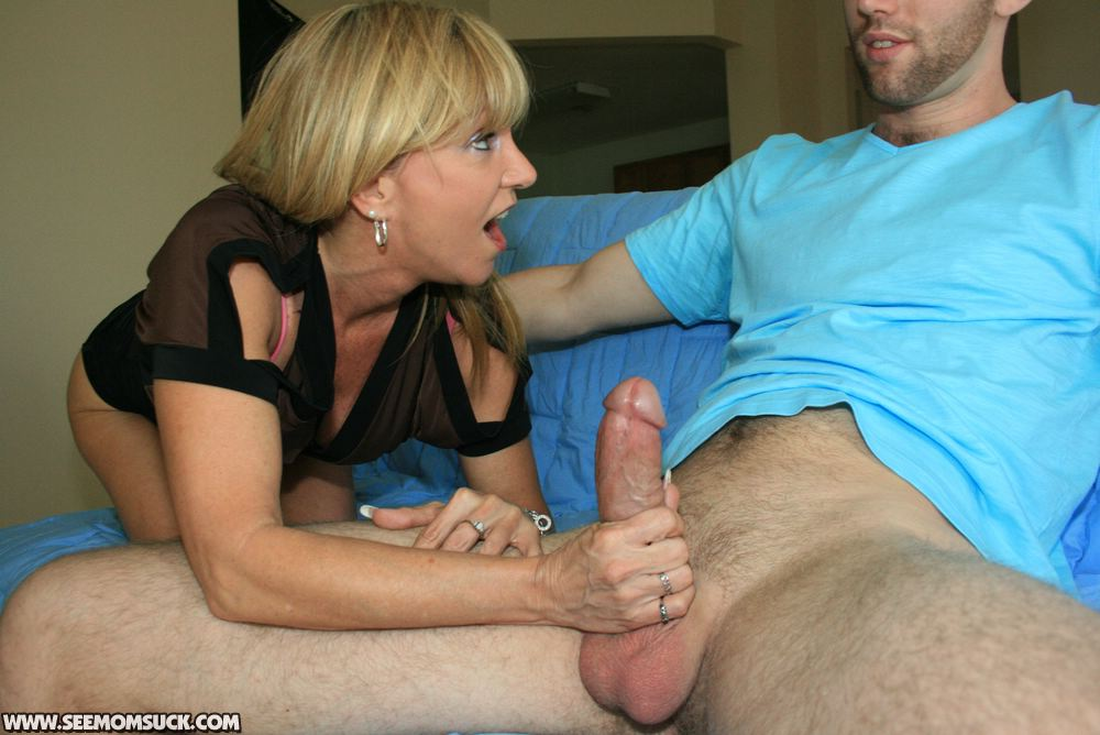 Jerking cock for mature moms