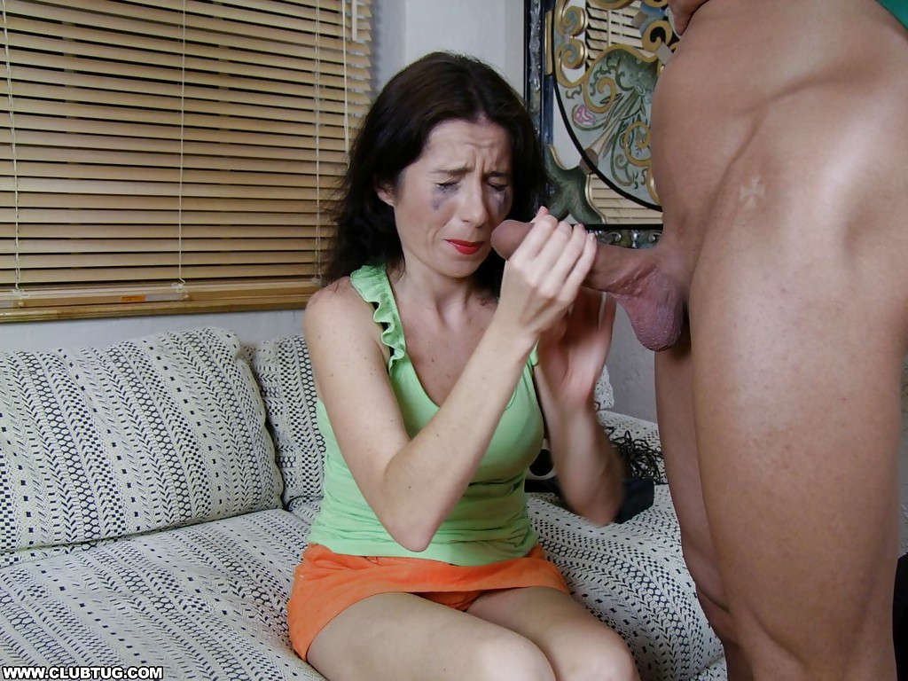 Jizz handjob mature