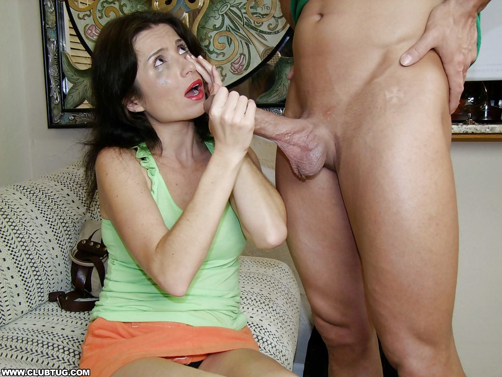 Mature handjob and cum