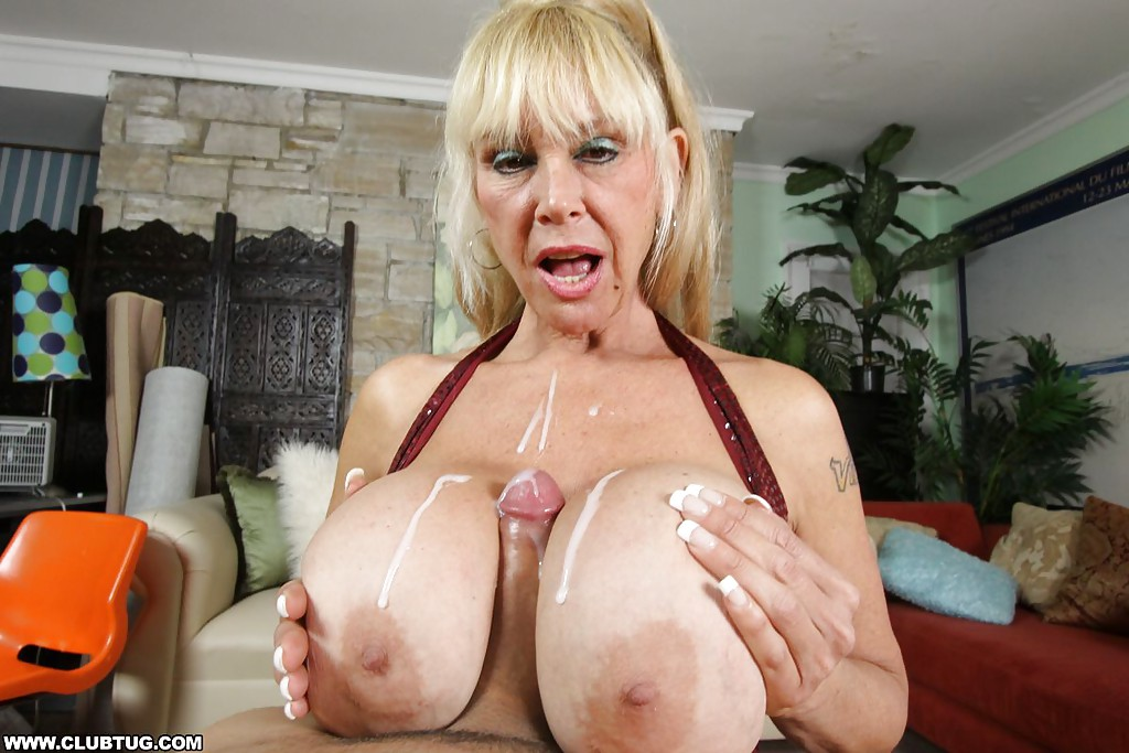 cum on grannys big tits