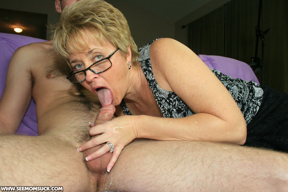 Amateur mature wife with glasses that
