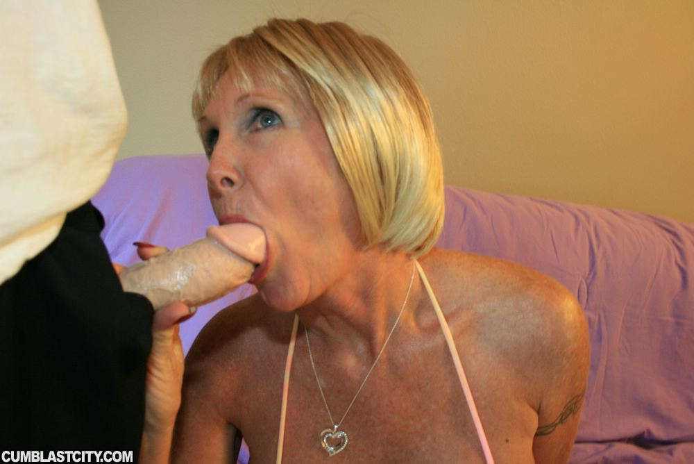 Blonde Mature Blow Job