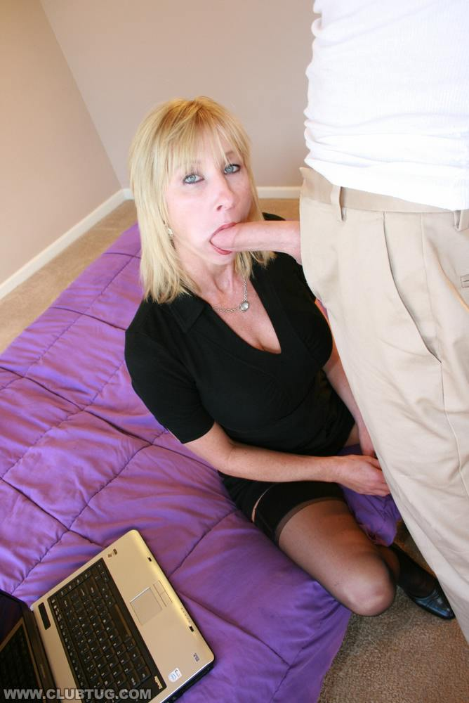 Teen with blonde hair playing