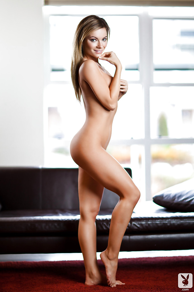 Alluring blonde babe Katie Carroll exposing her graceful curves