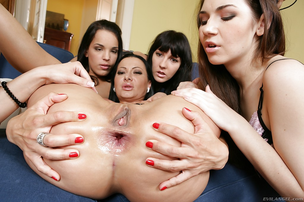 lesbian orgy clip - ... Lascivious gals with seductive curves are into hardcore lesbian orgy ...