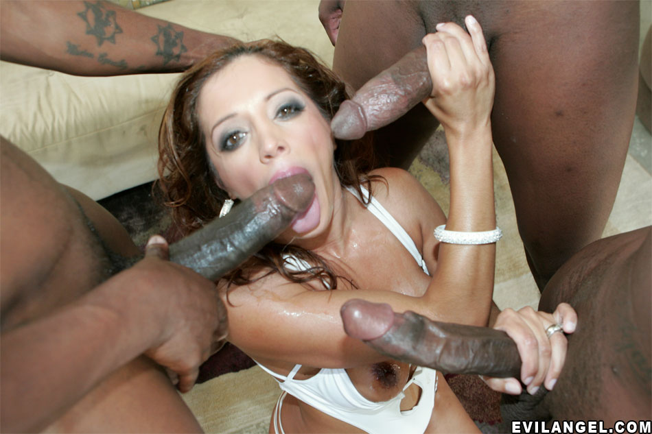 Black woman does blowjob