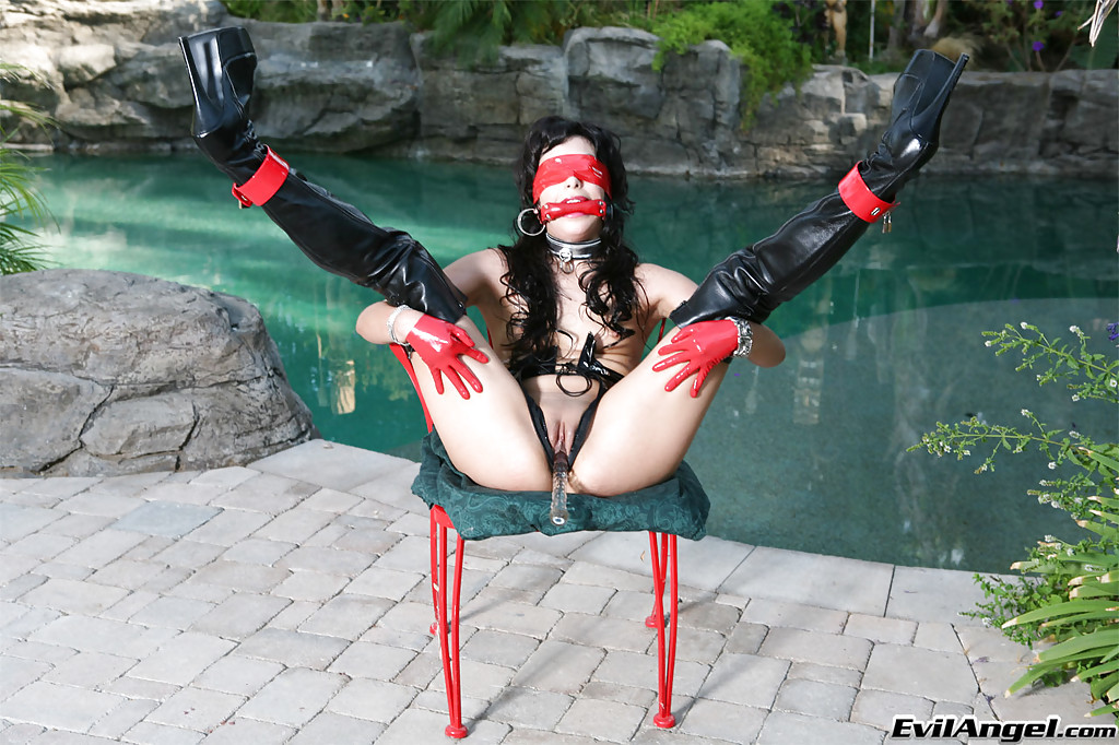 Crisp Mom in Bdsm getup Audrianna Angel getting linked and blindfoldly porn photo #317825865 | Cock Choking Sluts, Audrianna Angel, Ass, Blindfold, Bondage, Boots, Dildo, High Heels, Lesbian, MILF, Pool, Spreading, Tiny Tits, mobile porn