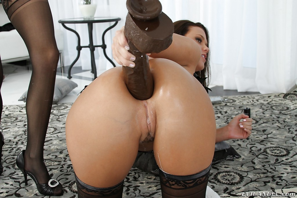 Huge dildo in anal