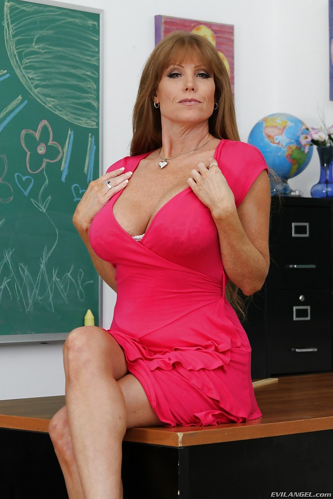 filthy teacher darla crane revealing her massive jugs and trimmed
