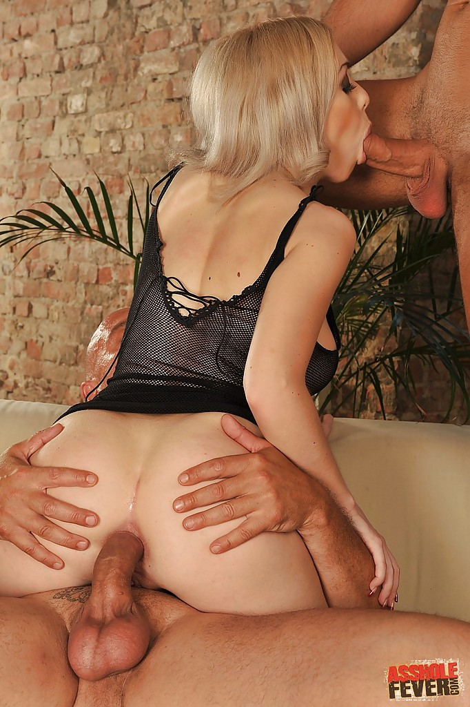 Threesome Blonde Short Hair