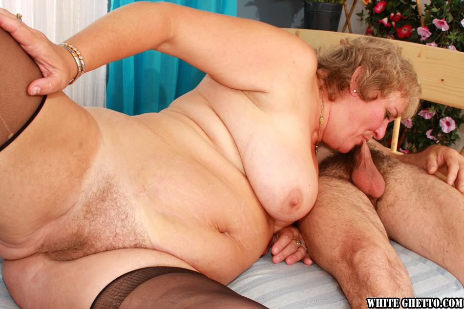 image Fatty gives head and fucks on the floor