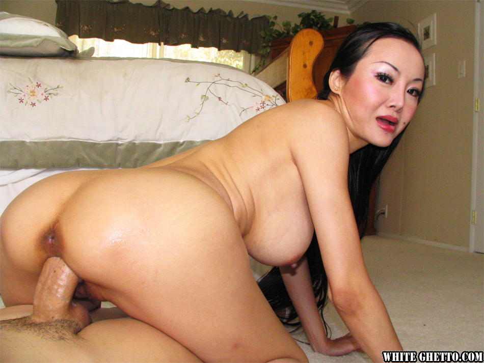 Asian Milf Porn Movies - ... Bosomy asian MILF Ange Venus gets her shaved cunt drilled hardcore ...
