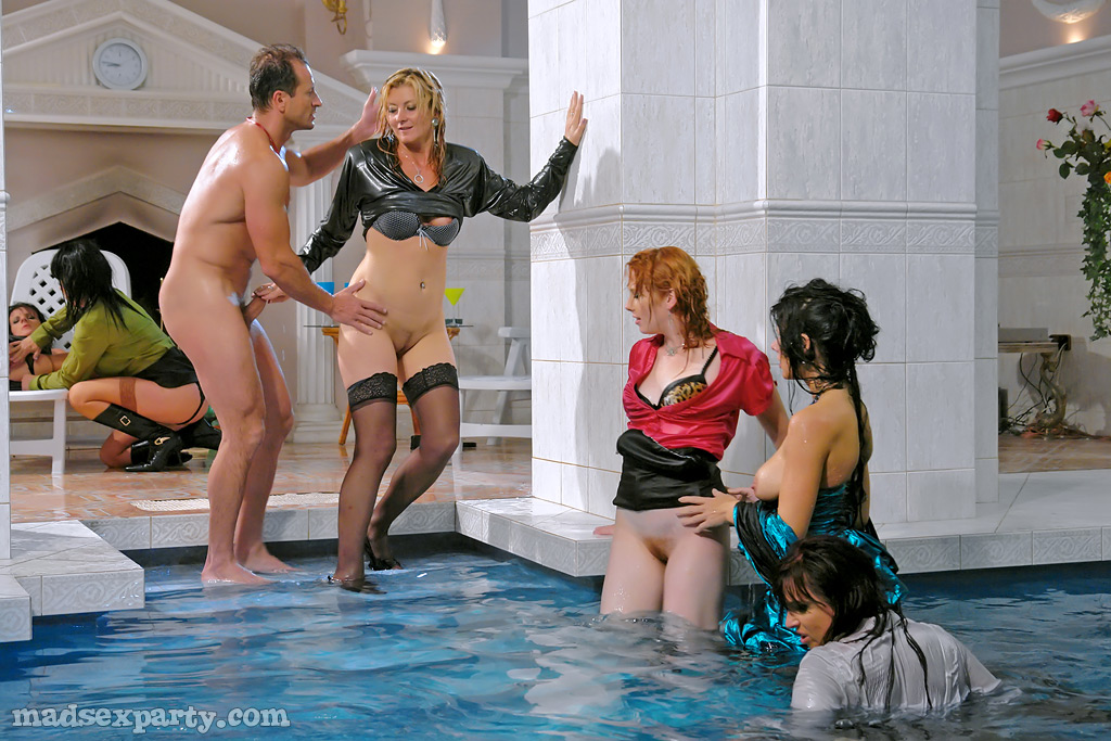 Milf pool party