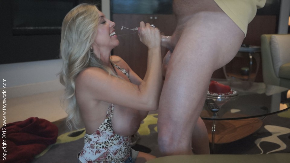 Housewife kelly sucks fucks and swallows 6